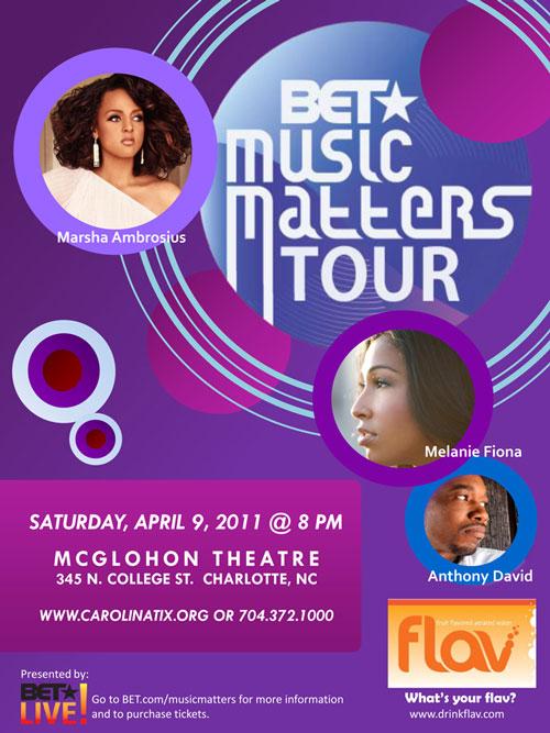 BET Music Matters Tour April 9th