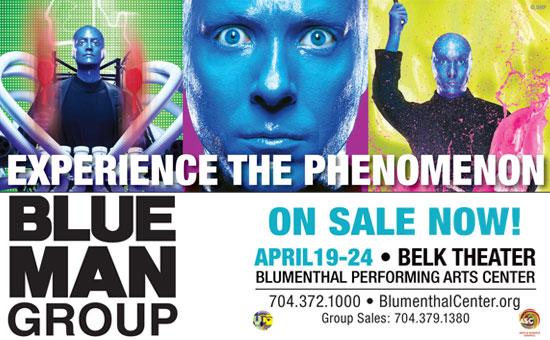 Blue Man Group April 19th – 24th
