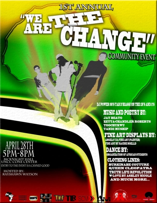 We Are the Change April 28th