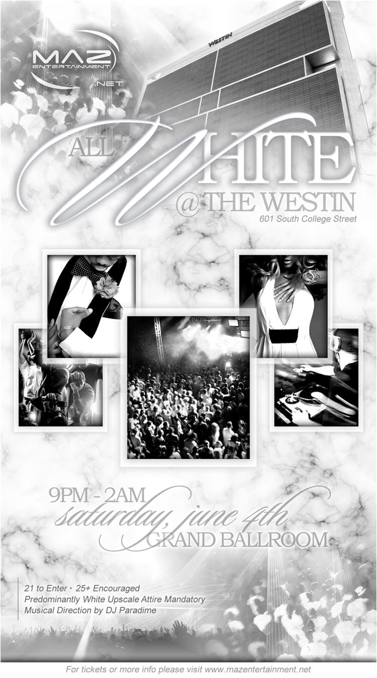 All White @ The Westin June 4th