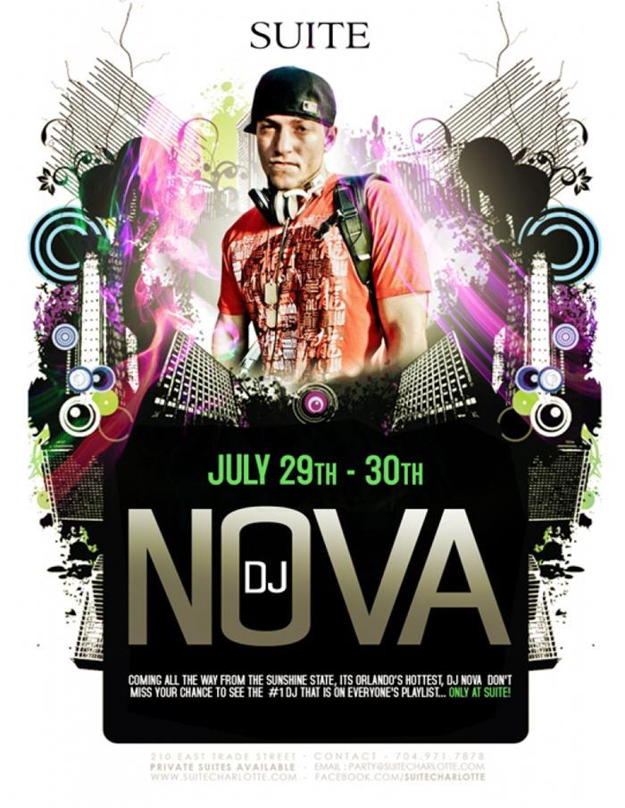 DJ Nova at Suite July 29th & 30th