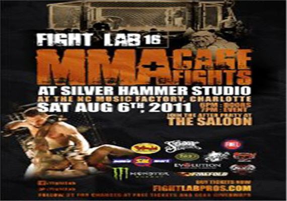 Fight Lab 16 MMA Cage Fights Aug 6th