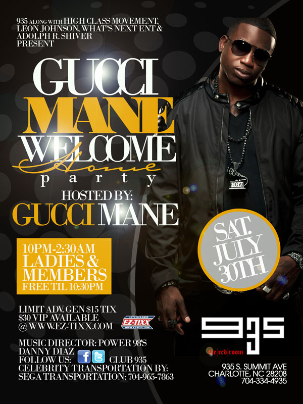 Gucci Mane Welcome Home Party July 30th