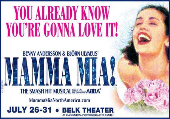 Mamma Mia July 26th-31st