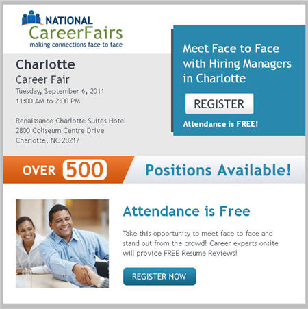 Charlotte Job Fair Sept 6th