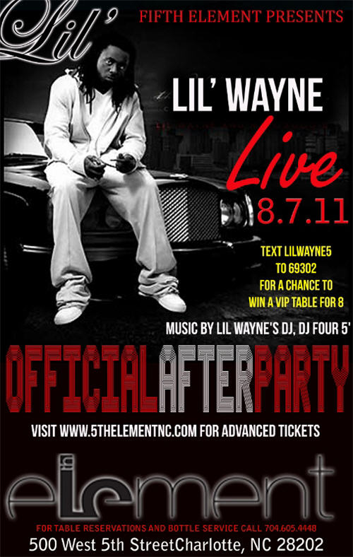 Lil Wayne Afterparty Aug 7th