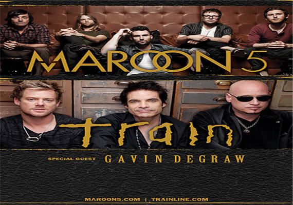 Maroon 5 and Train Aug 2nd