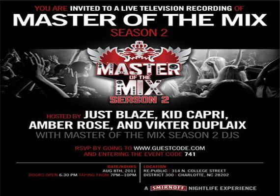 Masters of the Mix Season 2 Live Taping Aug 8th