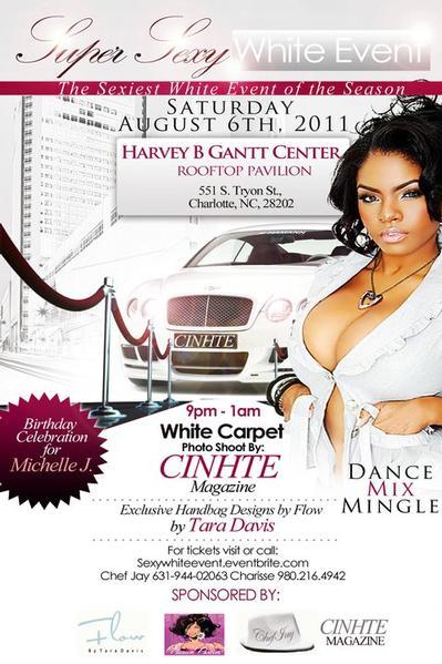 Super Sexy White Event Aug 6th