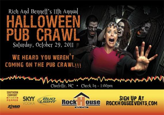 send inquiry for rich bennetts 11th annual halloween pub crawl
