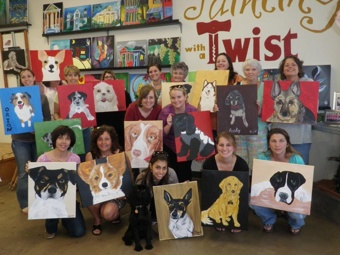 Painting with a twist paint your pet charlottehappening com for Painting with a twist charlotte nc