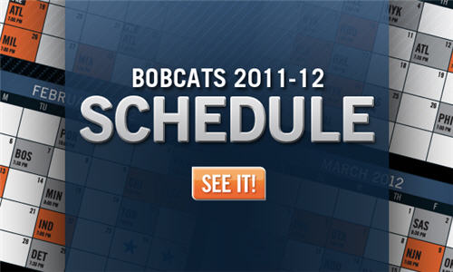 Charlotte Bobcats 2011-12 Schedule Released‏