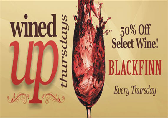 Wined Up Thursdays @ BlackFinn