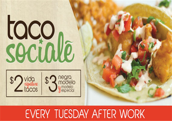 Taco Sociale Tuesday @ Vida Mexican Kitchen y Cantina