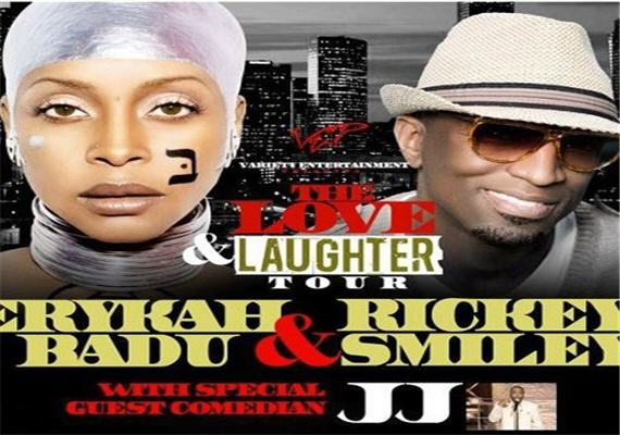 Love & Laughter Tour Erykah Badu & Rickey Smiley