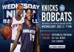 Bobcats vs Knicks Dec 5 2012
