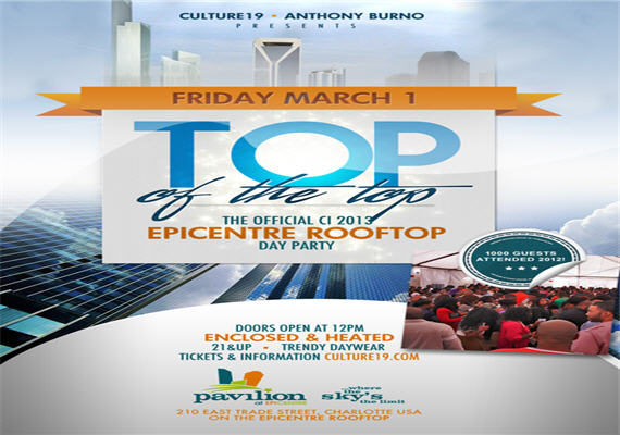 Top Of The Top – The Epicentre Rooftop Day Party – March 1st