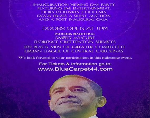 Blue Carpet 44 Inauguration MLK Day Charlotte 570x450_2