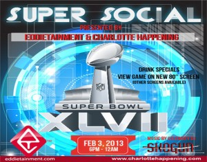 Charlotte Happening Eddietainment 2013 Super Bowl Party 570x450