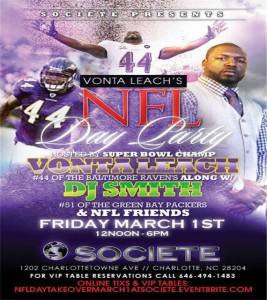 NFL Day Party Hosted by Vonta Leach 2013 Societe