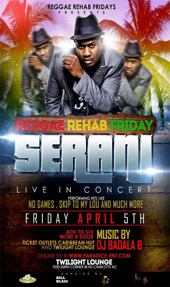 Serani LIVE Friday April 5th Twilight Lounge