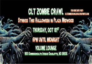 The CLT Zombie Crawl Halloween 2013