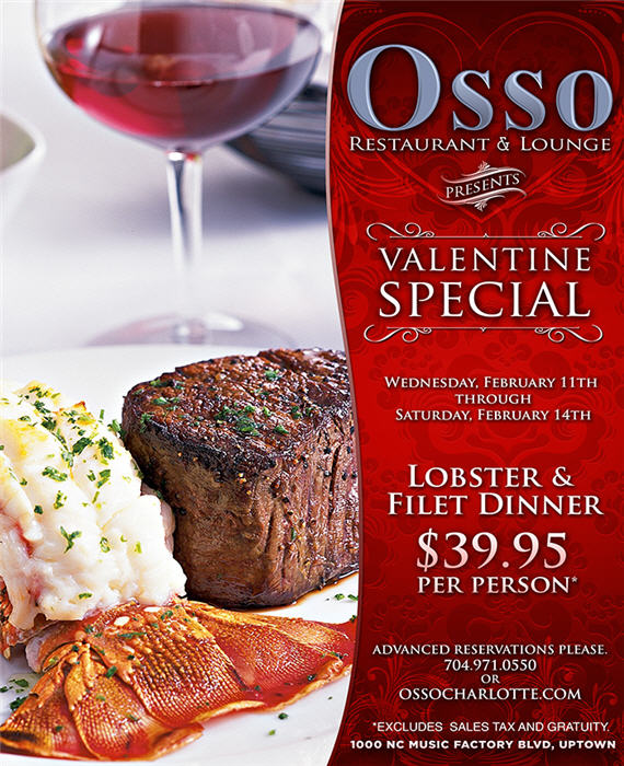 2015 Osso Valentines Day Dinner Special