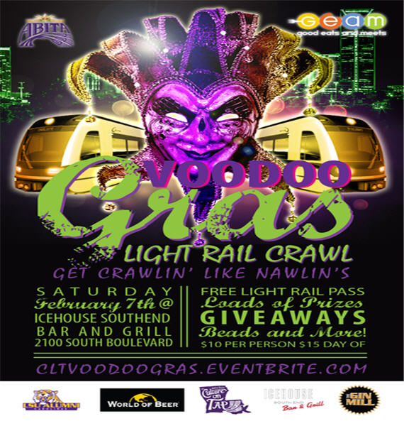 CLT Voodoo Gras Light Rail Crawl