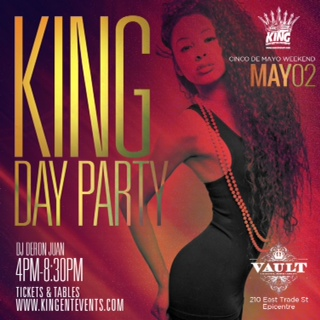 #KingDayParty at Vault May 2nd