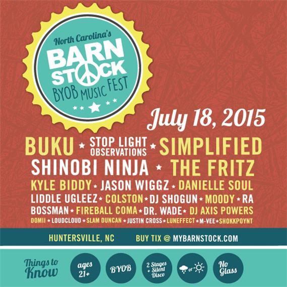 Barnstock BYOB Music Fest 2015 Lineup