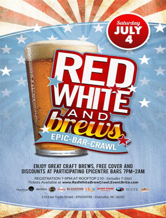 Red White and Brew Bar Crawl 2015