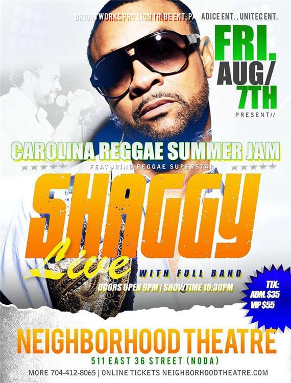 Carolina Reggae Summer Jam Shaggy