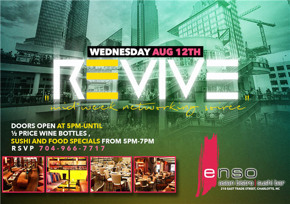 Revive: Mid-Week Networking Soiree – Wednesday Aug 12th