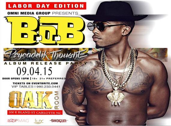 Oak Room and OMG Charlotte Present B.O.B. Album Release Party