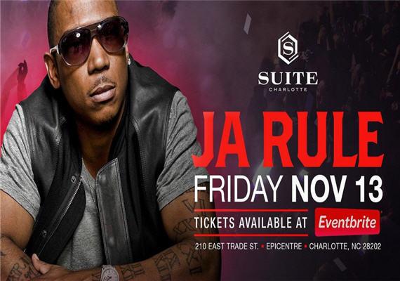 Ja Rule @ Suite Charlotte – Nov 13th