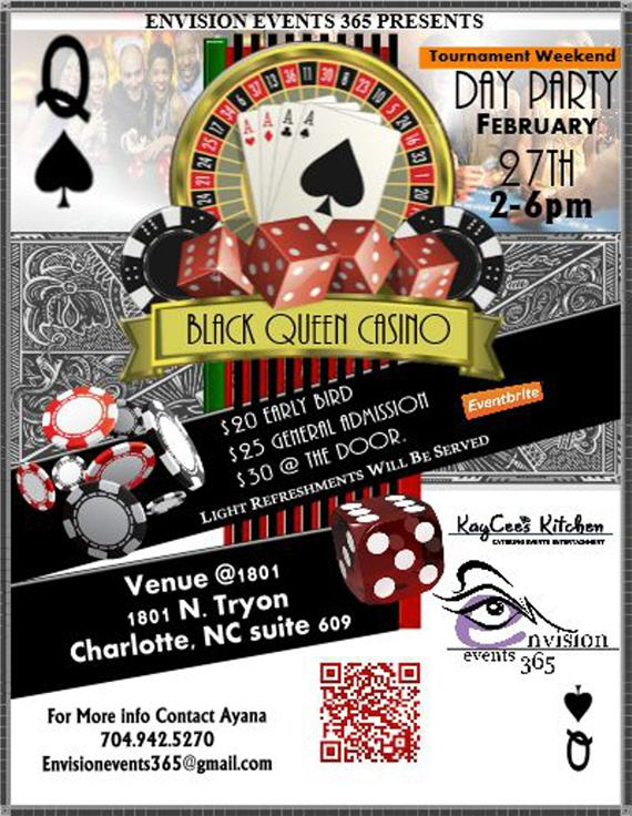 Black Queen Casino Day Party