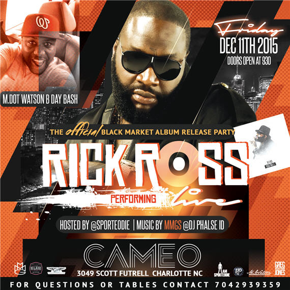 Rick Ross Black Market Album Release Party Cameo 2
