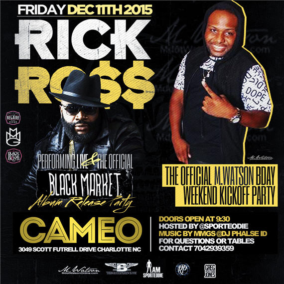 Rick Ross Black Market Album Release Party Cameo 3