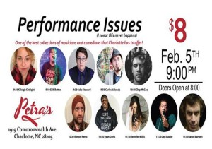 Performance Issues A Music and Comedy Showcase