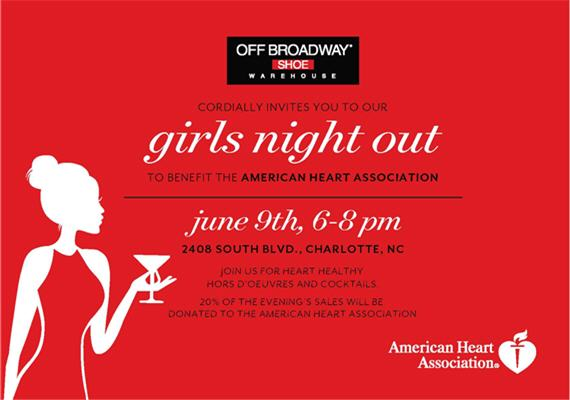 Girls' Night Out, Shop for a Cause with Off Broadway Shoe Warehouse June 9