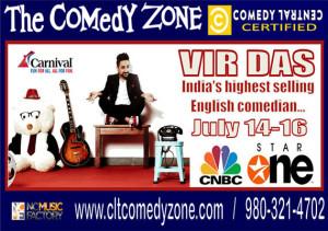 Vir Das Headlines The Comedy Zone