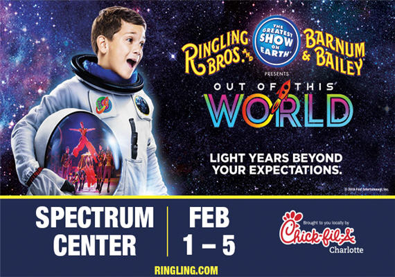 Ringling Bros And Barnum & Bailey Presents Out Of This World – Feb. 1st – 5th