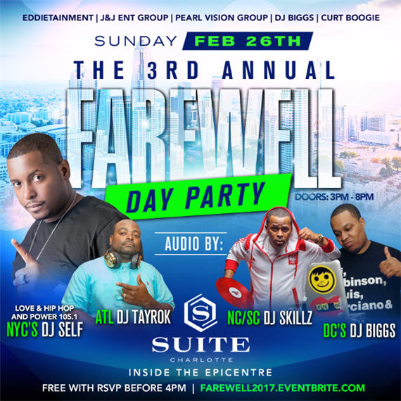 3rd Annual Farewell Day Party – Feb 26th