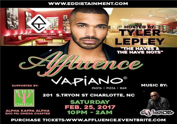 Affluence – Feb 25th – @ Vapiano