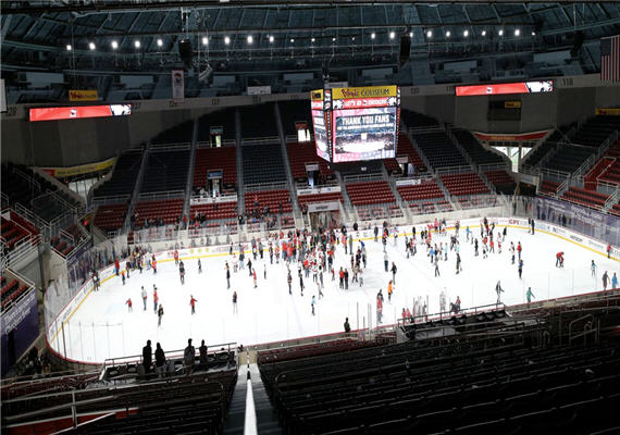 Charlotte Checkers' Public Skate at Bojangles' Coliseum