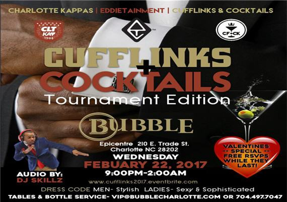 Cufflinks and Cocktails Tournament Edition – Feb 22nd