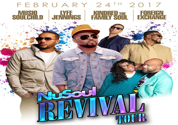Nu Soul Revival Tour Featuring Musiq Soulchild, Lyfe Jennings, Kindred the Family Soul, & The Foreign Exchange – Feb 24th