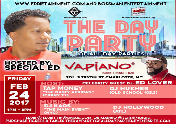 The Day Party of All Day Parties | Hosted by Special Ed & Ed Lover – Feb 24th