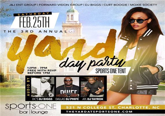 The Yard Day Party at Sports One Tent