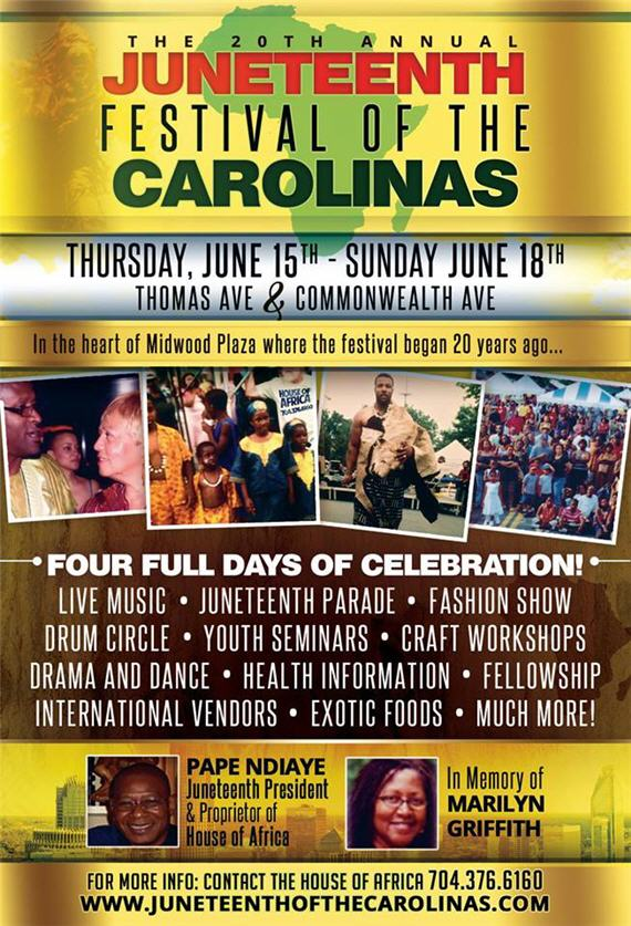 Juneteenth Festival Of The Carolinas Presents Its 20th